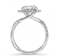 Uneek Infinity Infinity-SM817RD Engagement Ring