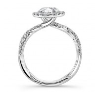 Uneek Infinity Infinity-SM818RD Engagement Ring