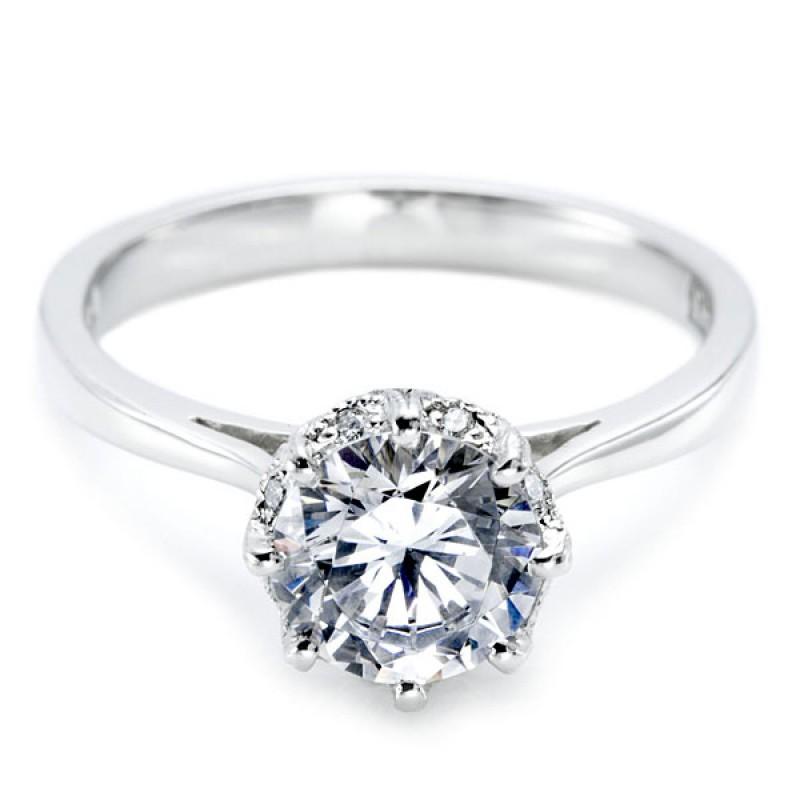 cf5f6c4c896f4 Tacori Simply Tacori 2504RD Halo Pave Engagement Ring