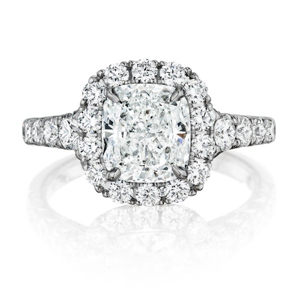 Henri Daussi AV Engagement Ring