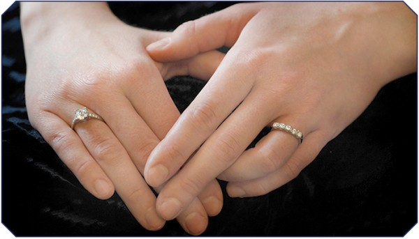 Another Option Though Less Traditional Is To Wear The Engagement Ring On One Finger Left Hand And Wedding Band Right S
